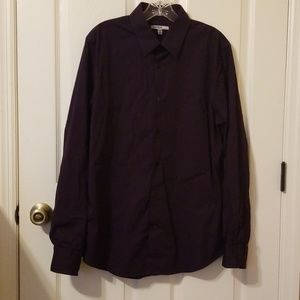 Dark purple button down
